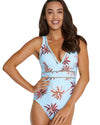 TAHITI LONGLINE ONE PIECE SWIMSUIT