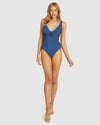 GLIMMER BUCKLE FRONT LONGLINE ONE PIECE