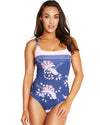 GILI ISLANDS D-E SQUARE NECK ONE PIECE SWIMSUIT