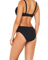 ECO ESSENTIALS RUCHED SIDE MID BIKINI PANT