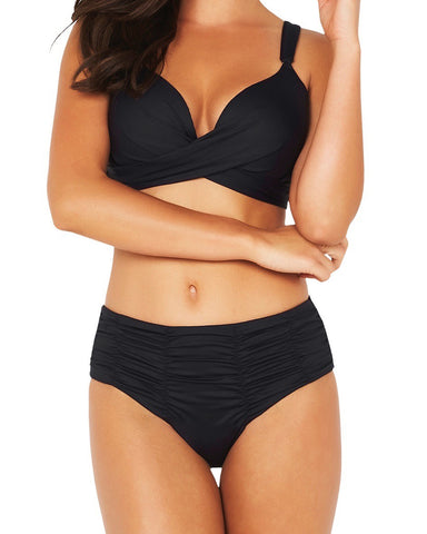 ECO GATHERED FRONT MID BIKINI PANT