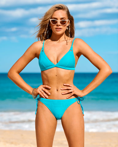 RIBTIDE FIXED LONGLINE TRIANGLE BIKINI TOP