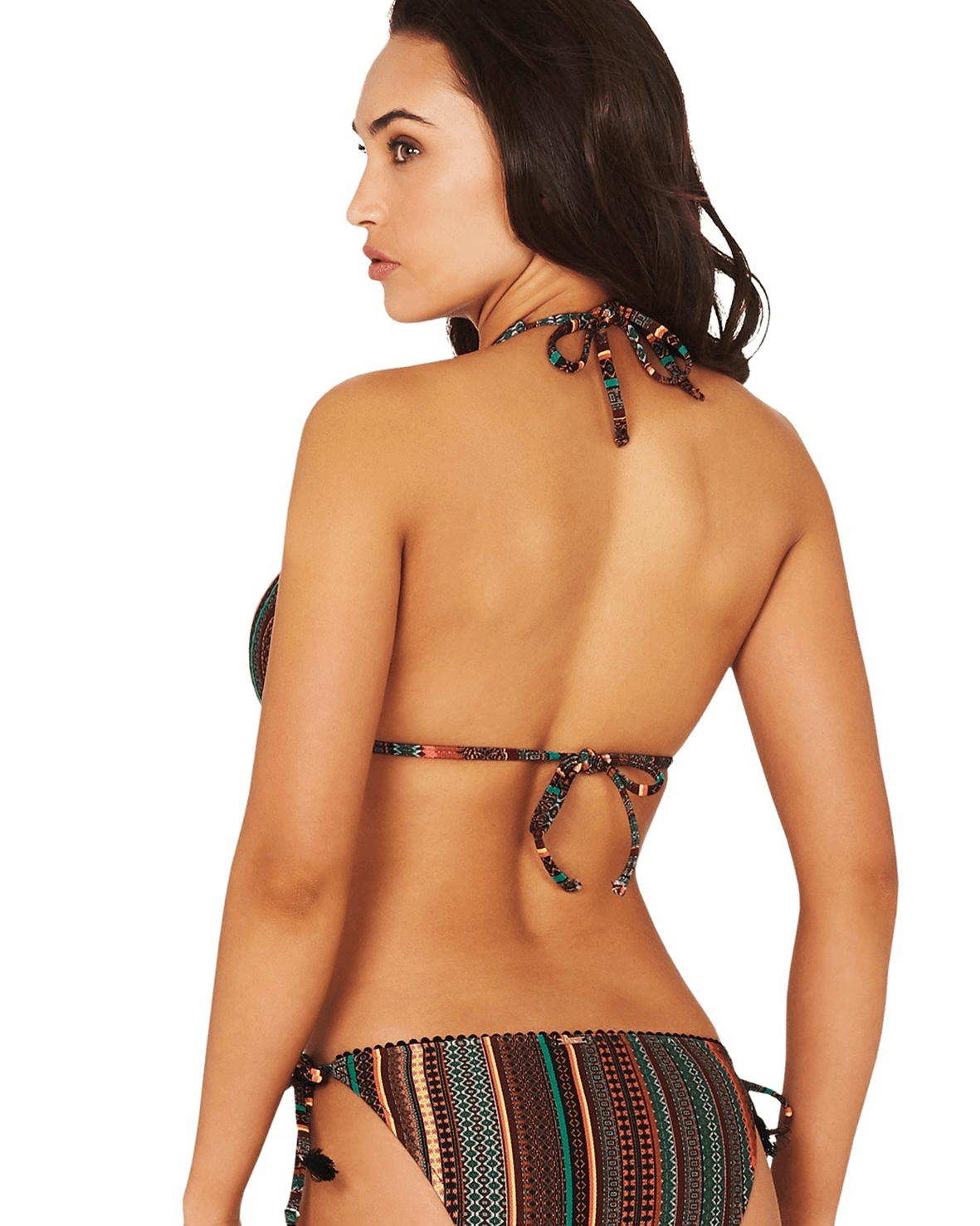 JAMAICA LONGLINE SLIDE TRIANGLE BIKINI TOP