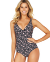VERSAILLES LONGLINE ONE PIECE SWIMSUIT