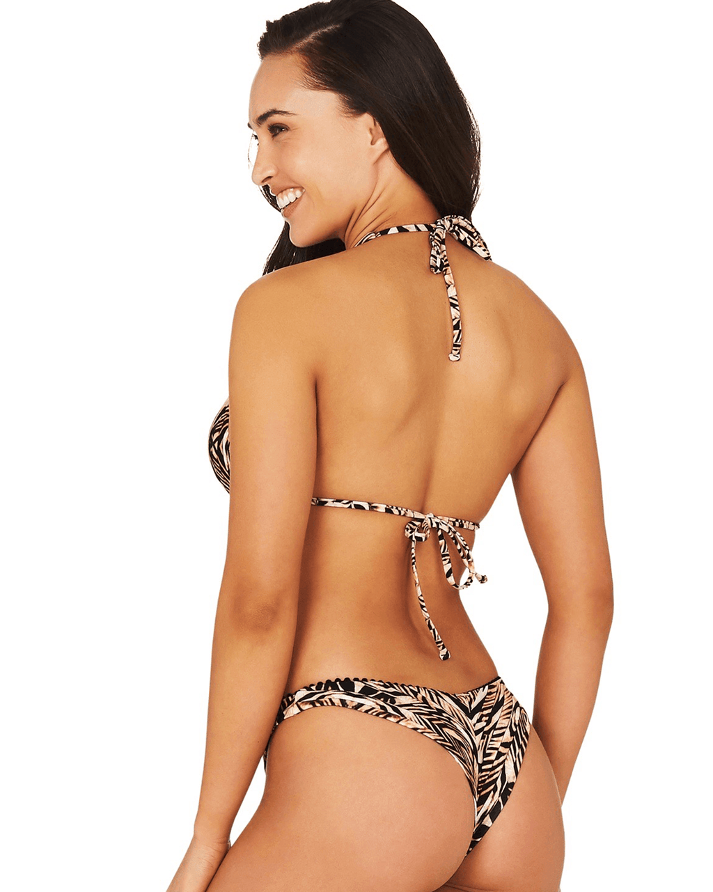 TIGRESS LONGLINE SLIDE TRIANGLE BIKINI TOP