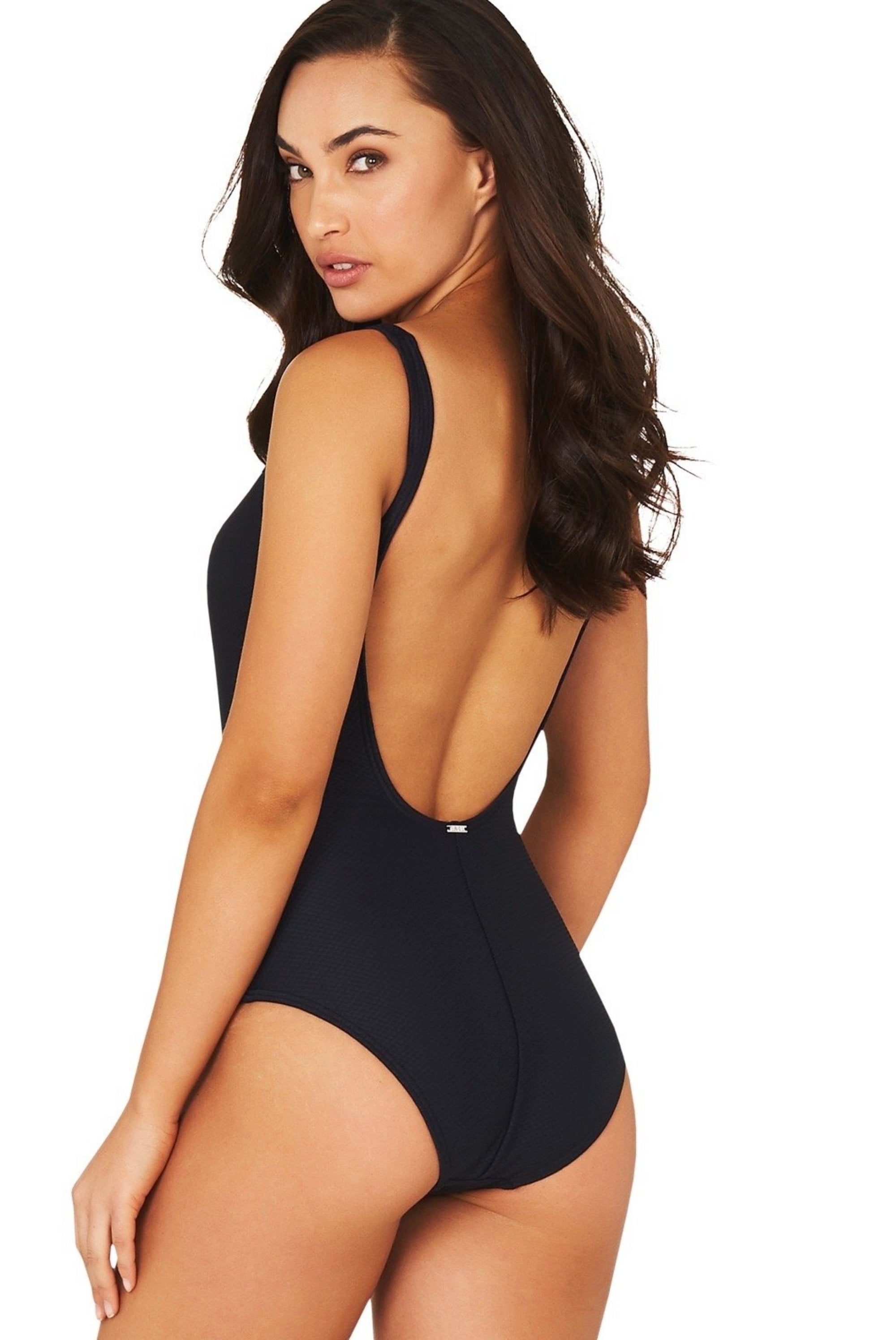 ROCOCCO V-NECK ONE PIECE SWIMSUIT