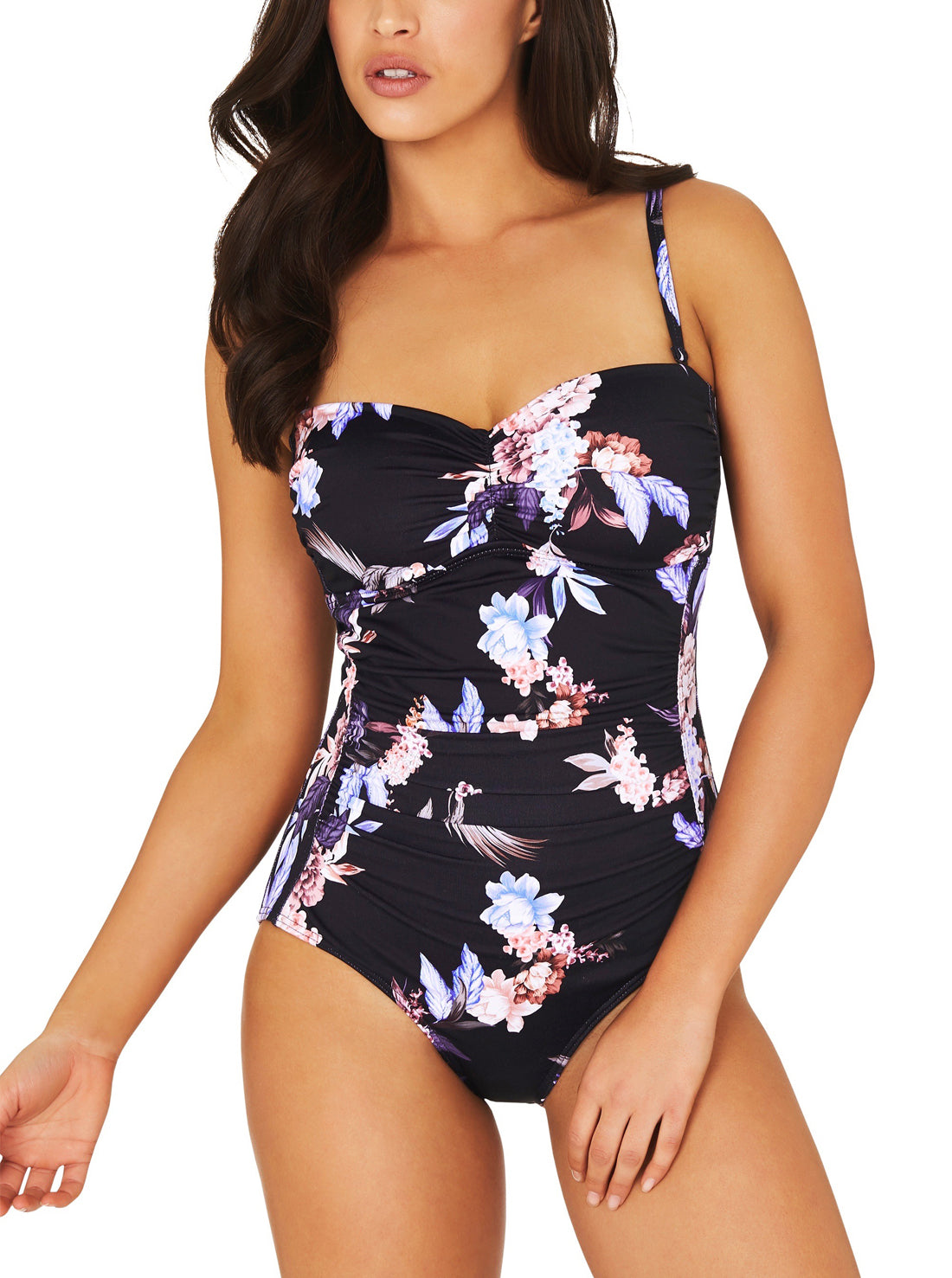 COVENT GARDEN MOULDED C-DD BANDEAU ONE PIECE SWIMSUIT