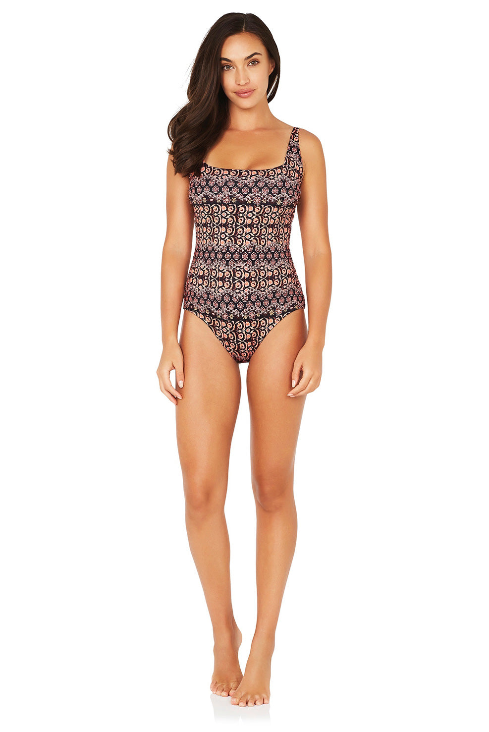 CONSTANTINE D-E UNDERWIRE SQUARE ONE PIECE SWIMSUIT