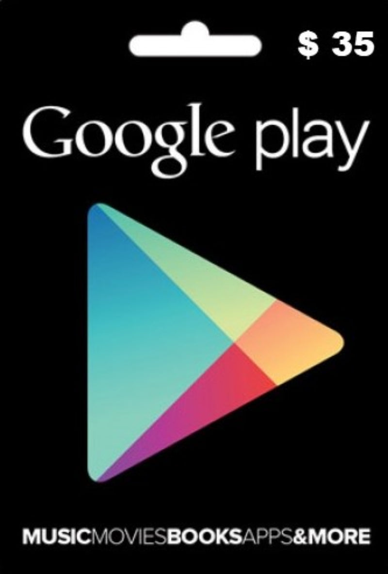 Tarjeta Google play gift card 35 USD - Latin Gamer Shop