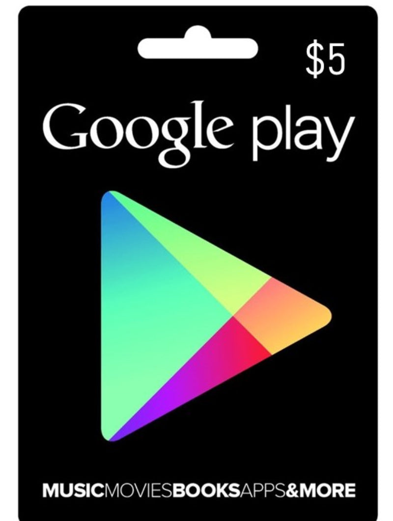 Tarjeta Google play gift card 5 USD - Latin Gamer Shop