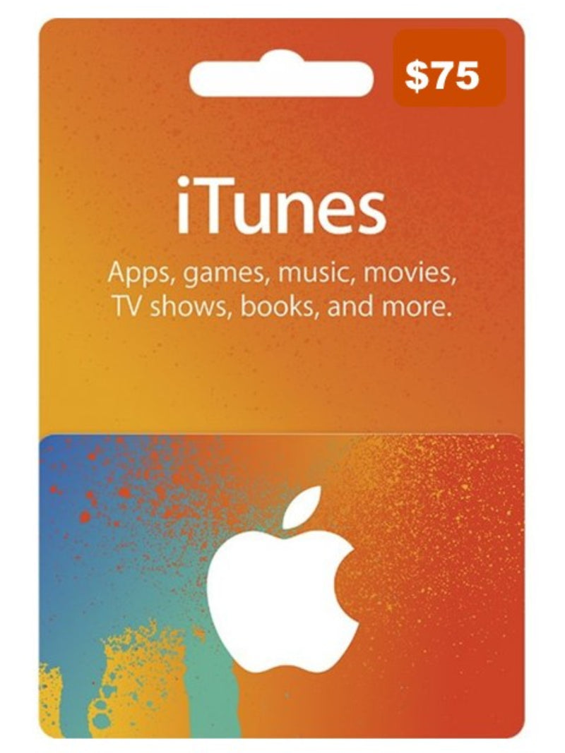 Tarjeta Itunes 75 USD - Latin Gamer Shop