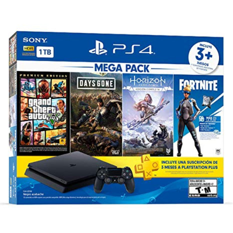 PS4 Slim 1 TB Megapack 3 juegos + PLUS - Latin Gamer Shop