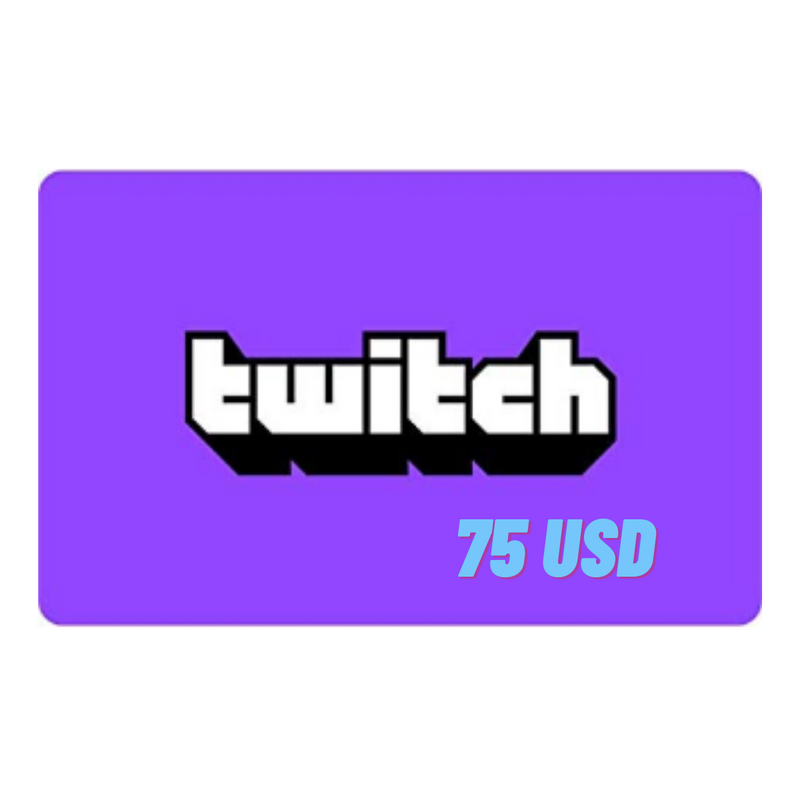 Twitch gift card 75 USD - Latin Gamer Shop