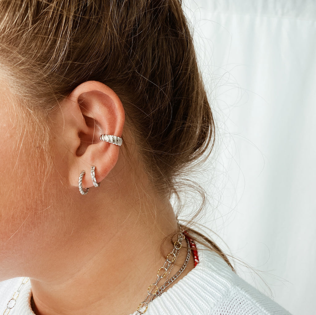 Ear Cuff - Croissant argent