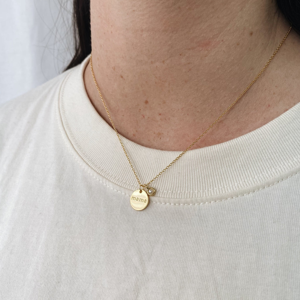 Collier MAMA - Or (Disponible mi-juin)