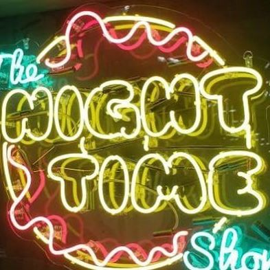 Neon Mfg. for Stephen Kramer Glickman and The Night Time Show
