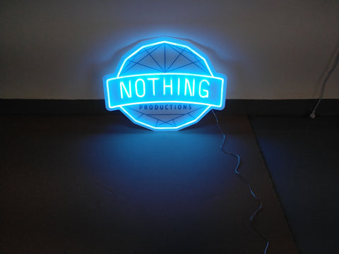 Nothing Productions Neon Sign
