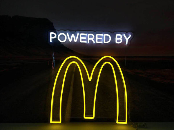 Powered by McDonalds Neon Sign
