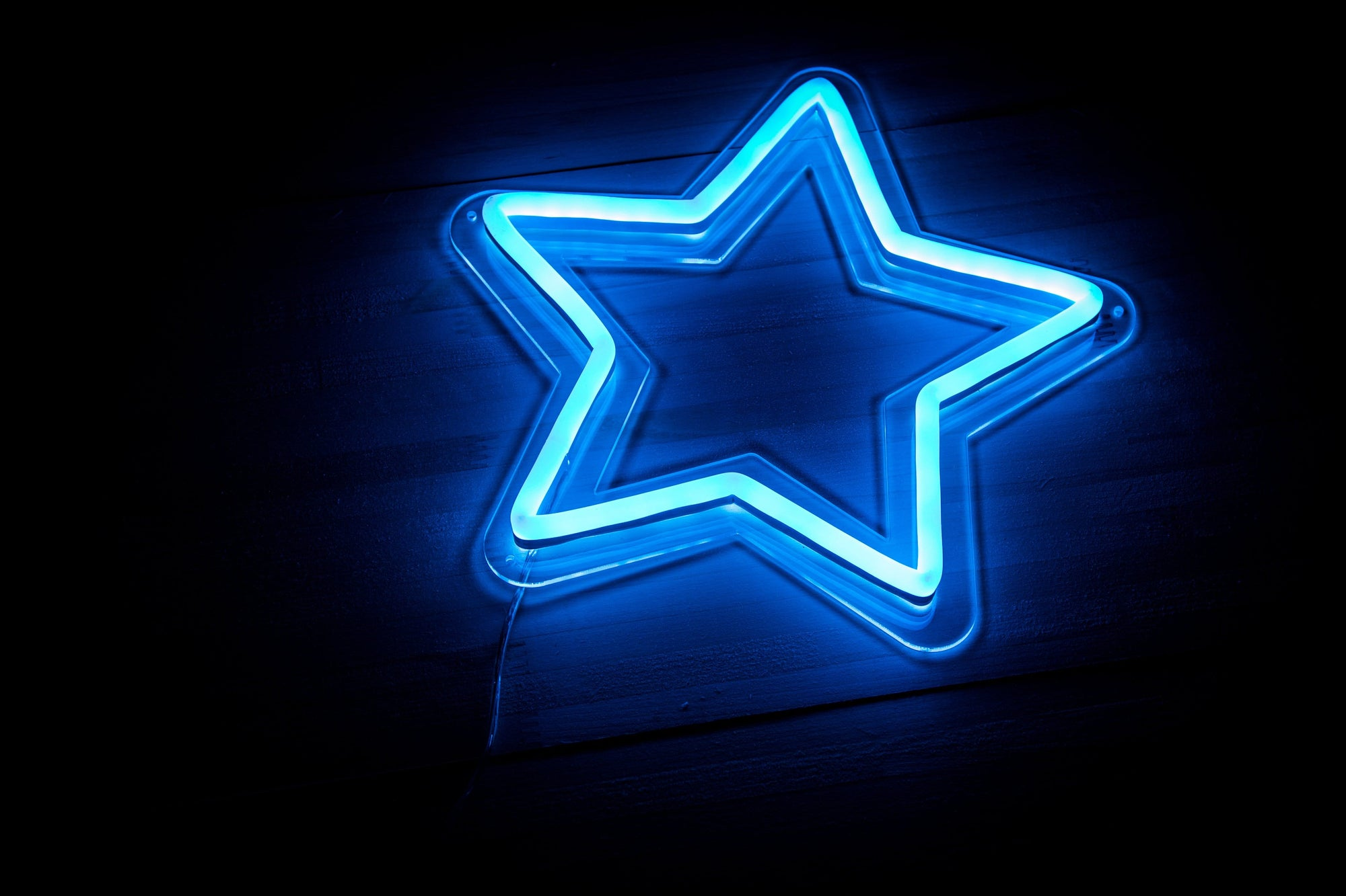 Blue Star LED sign