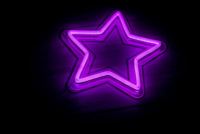 Star LED signs purple
