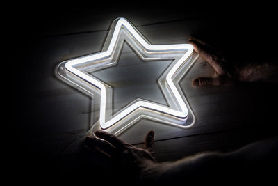 Star LED signs white