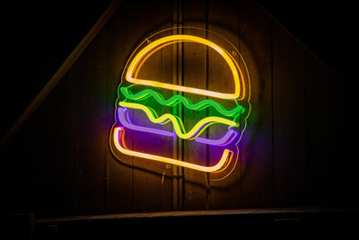 Hamburger LED Sign