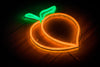 LED Neon Peach sign