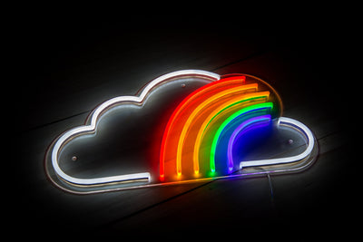 Cloud Rainbow LED Sign