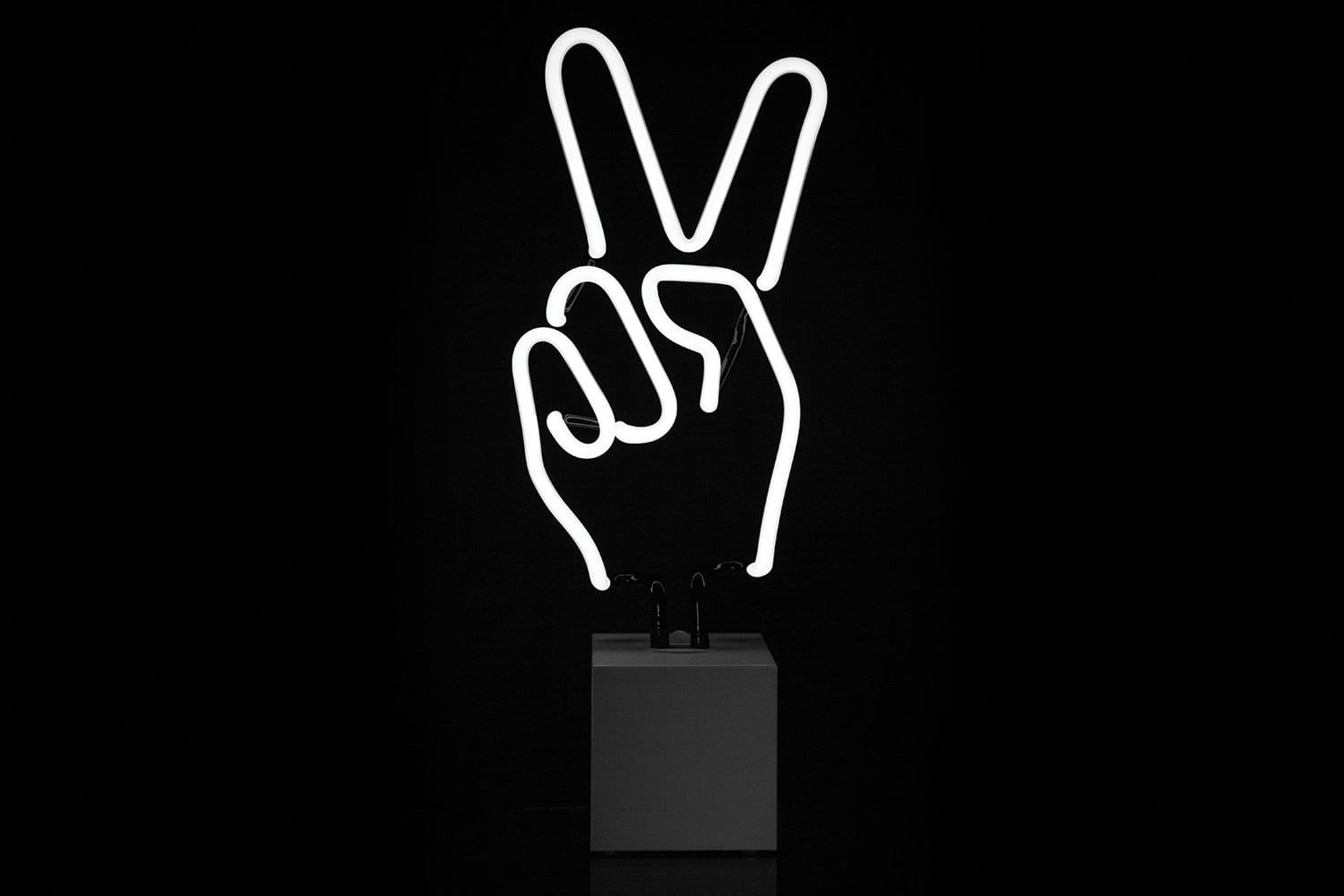 Peace Hand Neon Sign