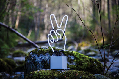 Peace Hand Neon Sign desktop