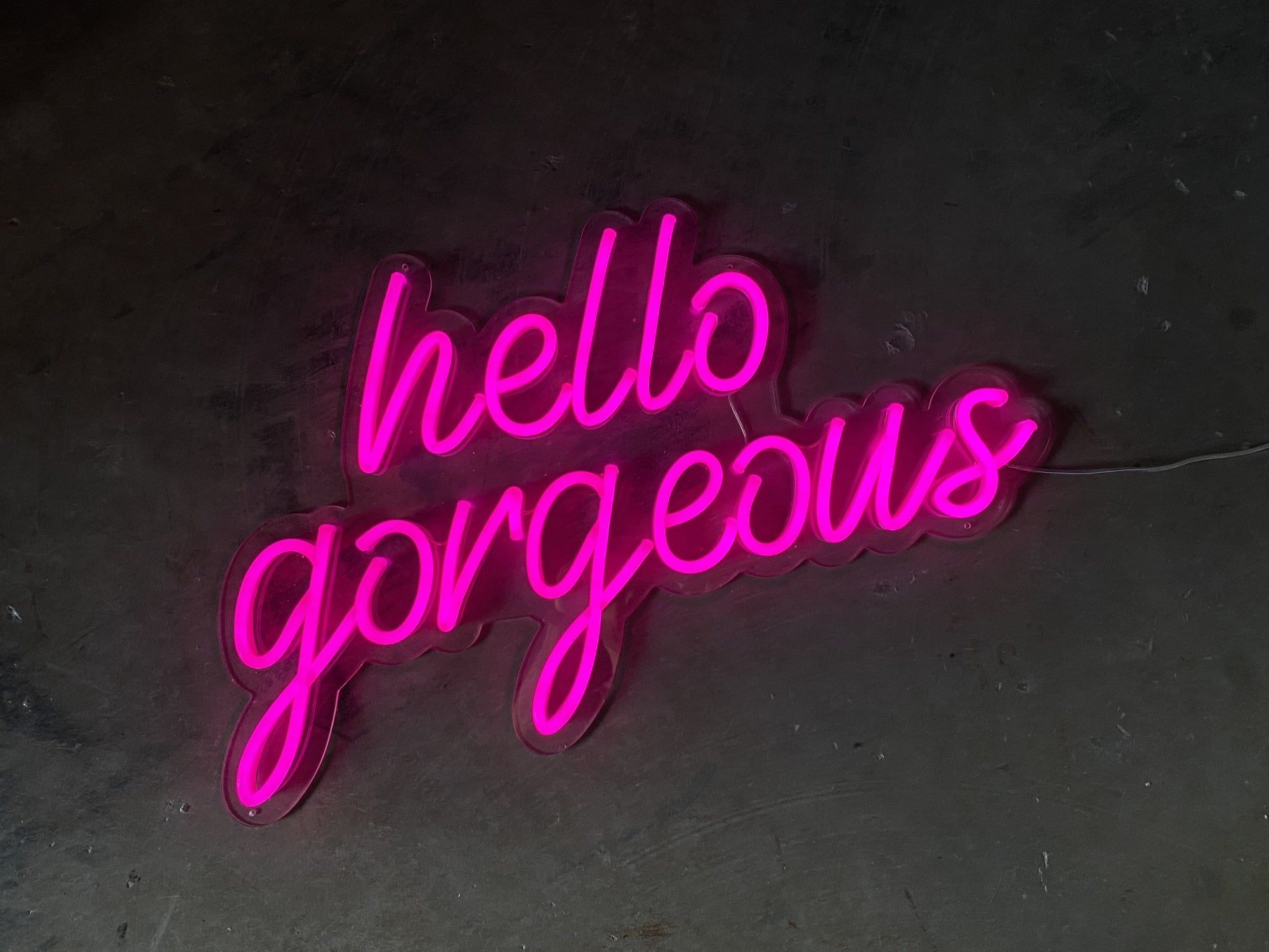 Hello Gorgeous LED Neon Sign