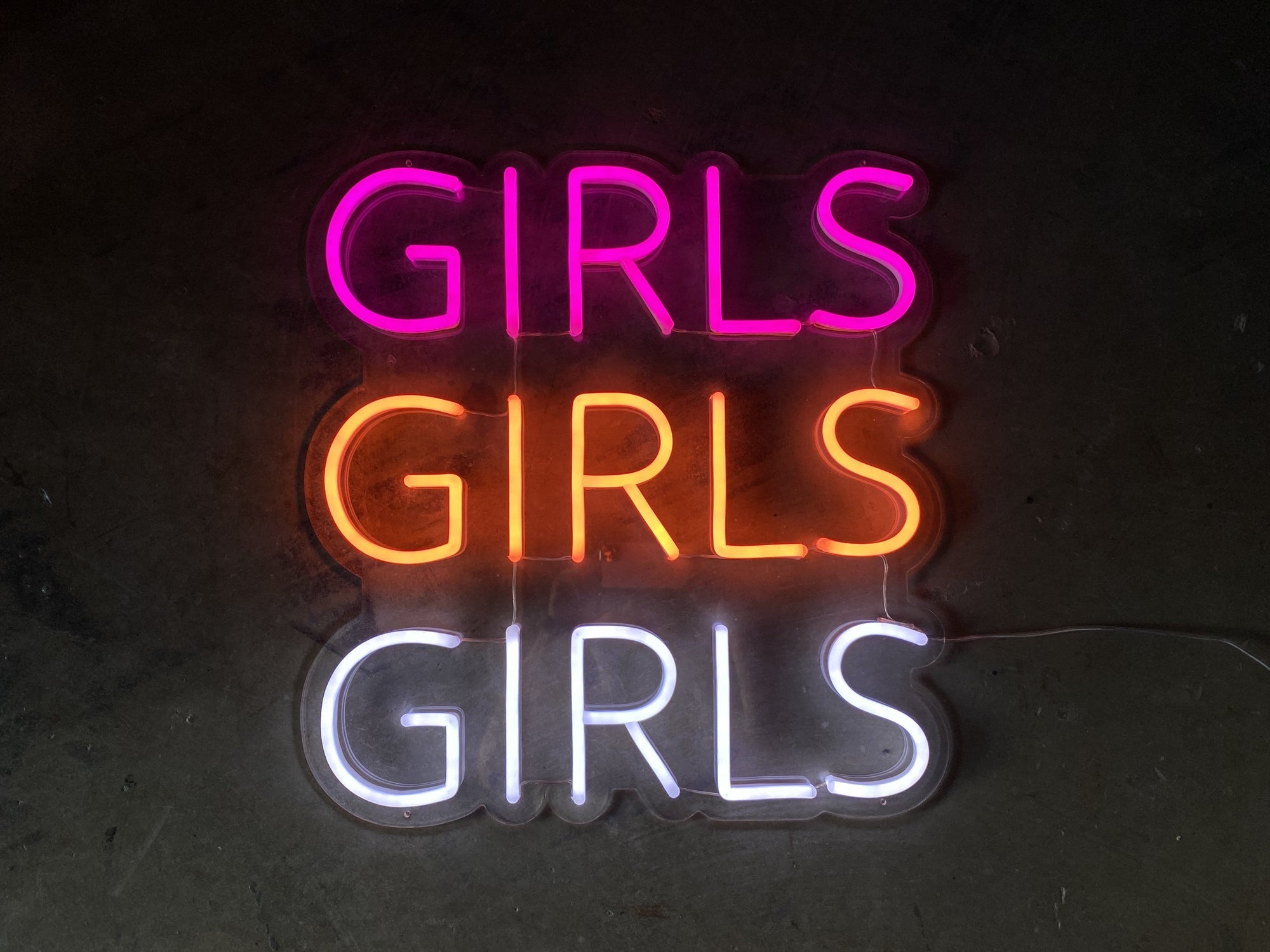 Girls Girls Girls LED Neon Sign