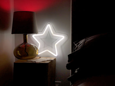 White Star LED sign
