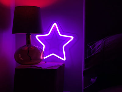 Purple Star LED sign