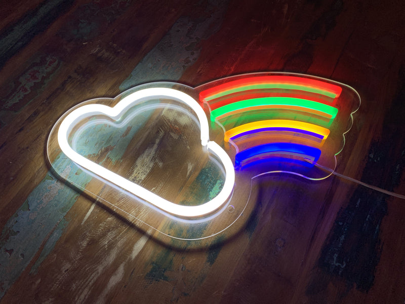 Little Cloud And Rainbow LED Neon Sign