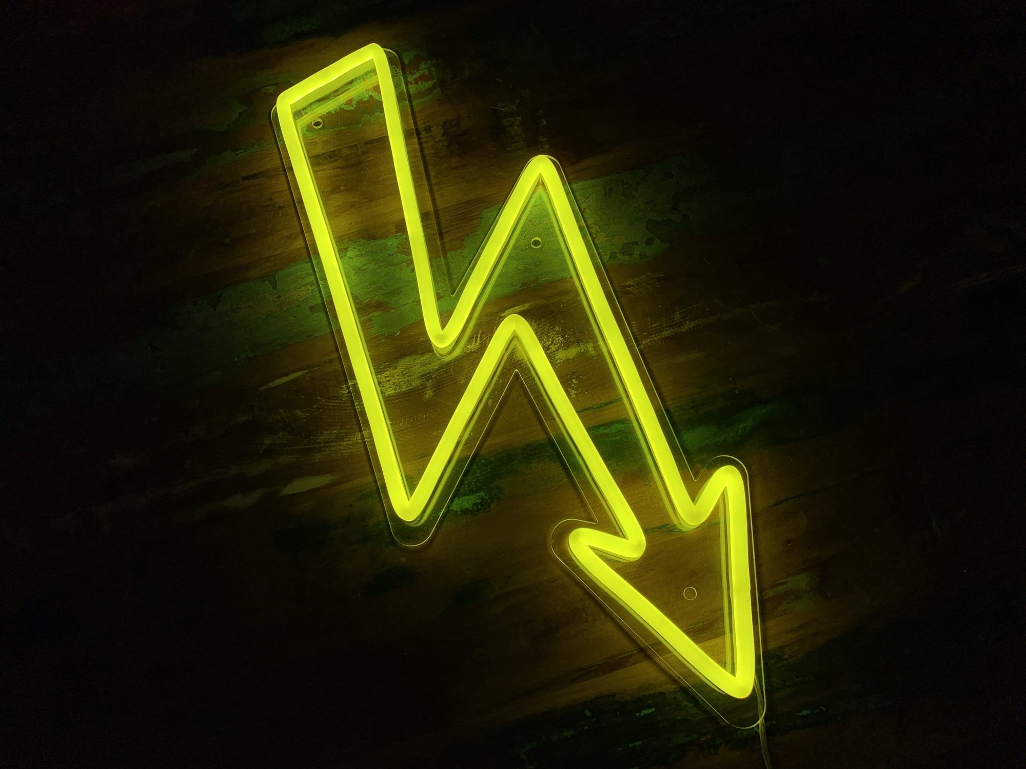 Lightning Bolt LED Neon Sign