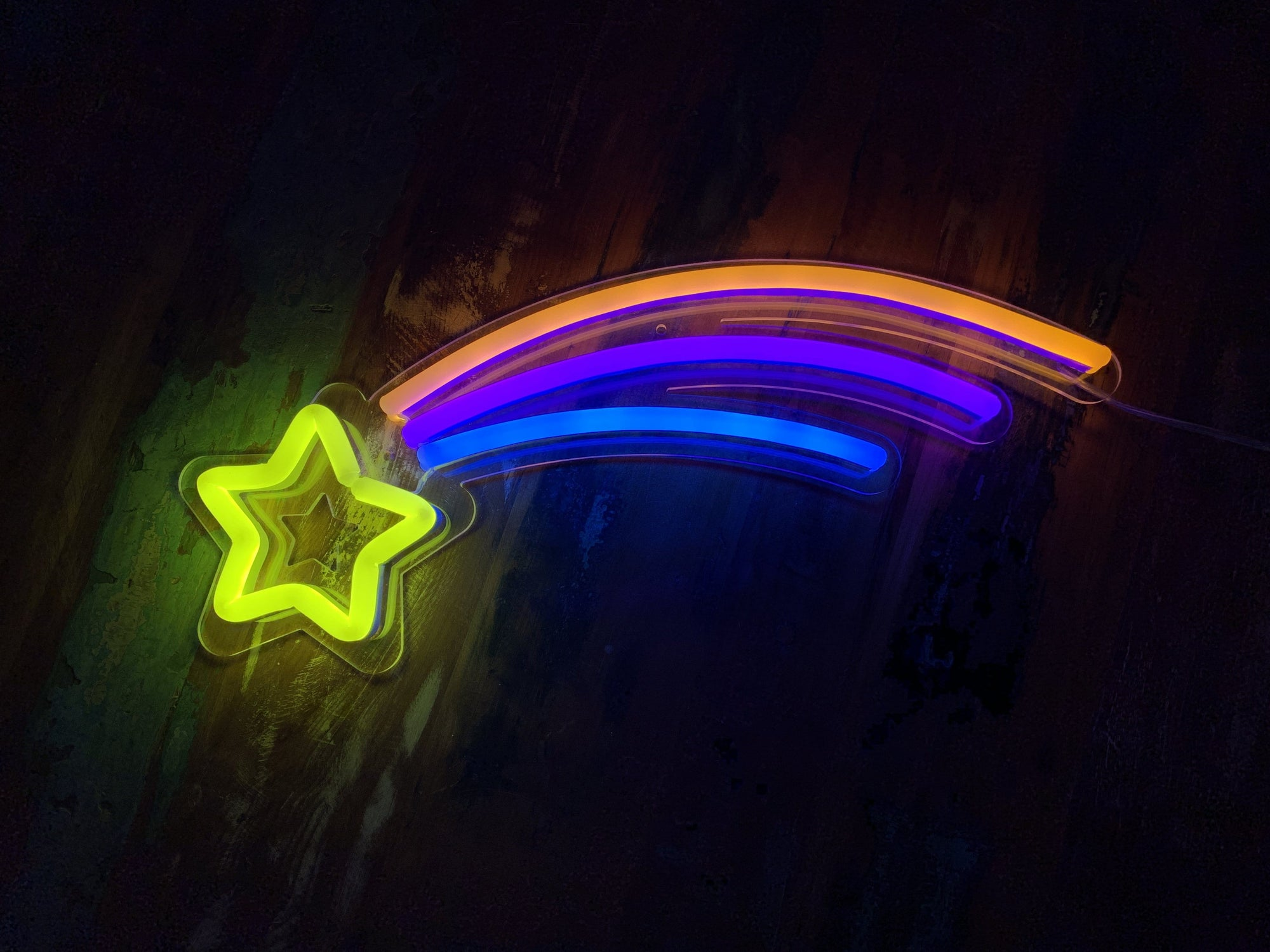 Shooting Star LED Neon Sign
