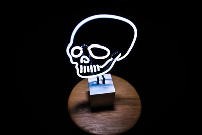 White Skull Neon Sign Desktop