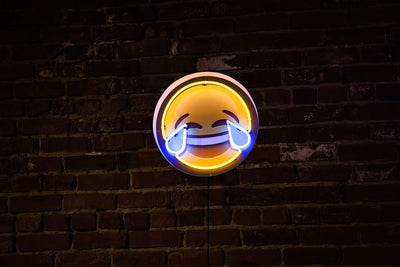 Tears Of Joy Emoji Neon Sign