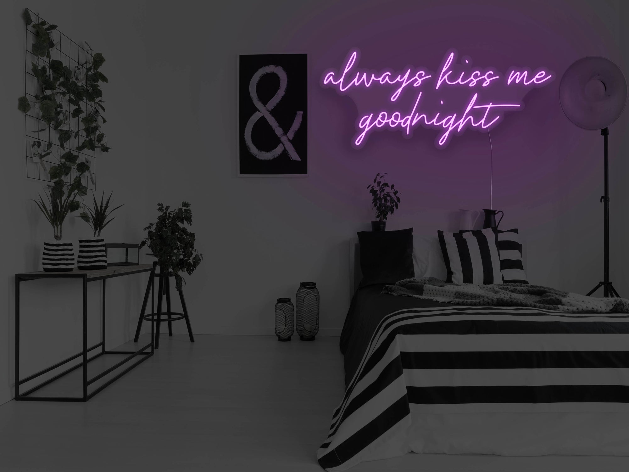 Always Kiss Me Goodnight LED Neon Sign