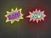 POW! and BAM! Neon Signs
