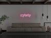Crybaby LED Neon Sign