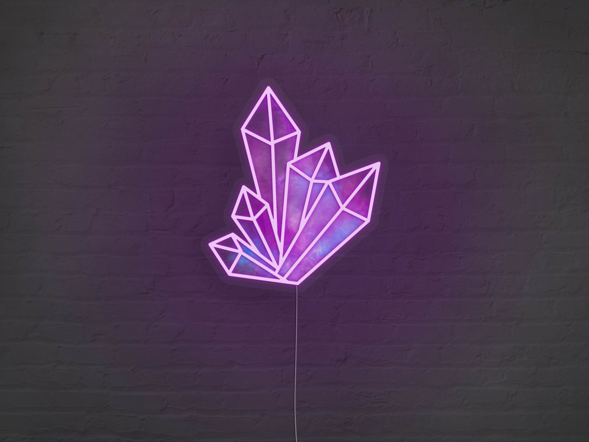 Crystals LED Neon Sign