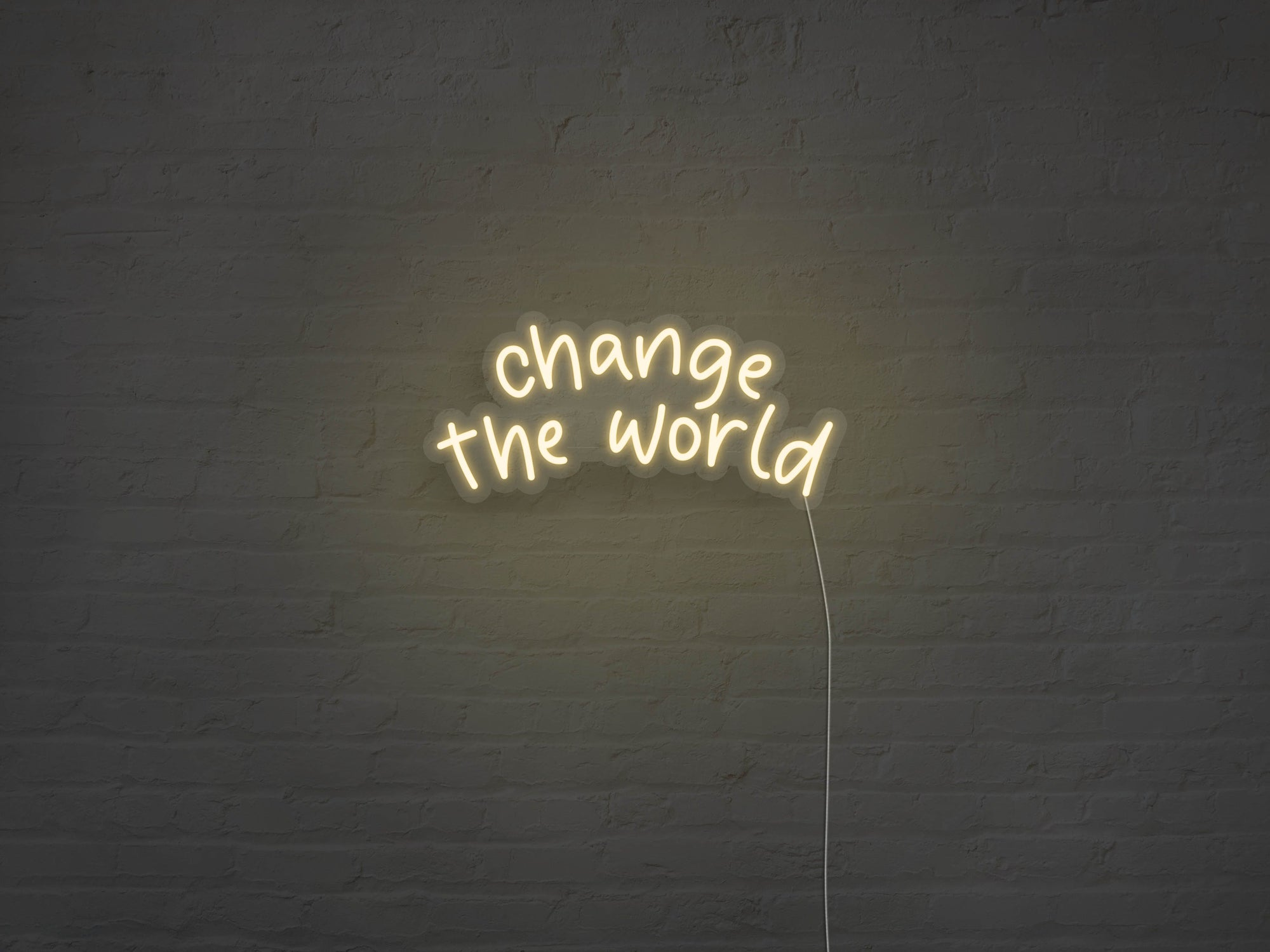 Change The World LED Neon Sign