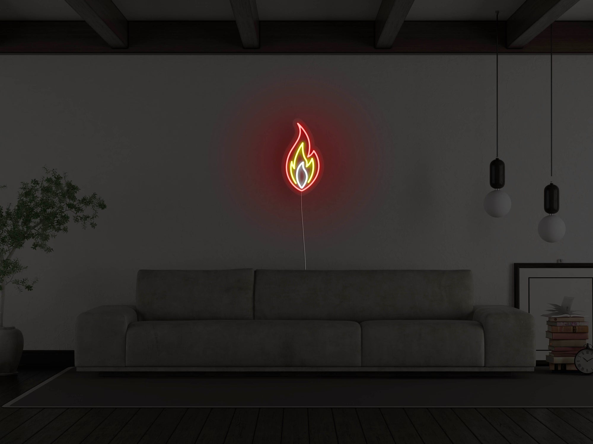 Flame LED Neon Sign