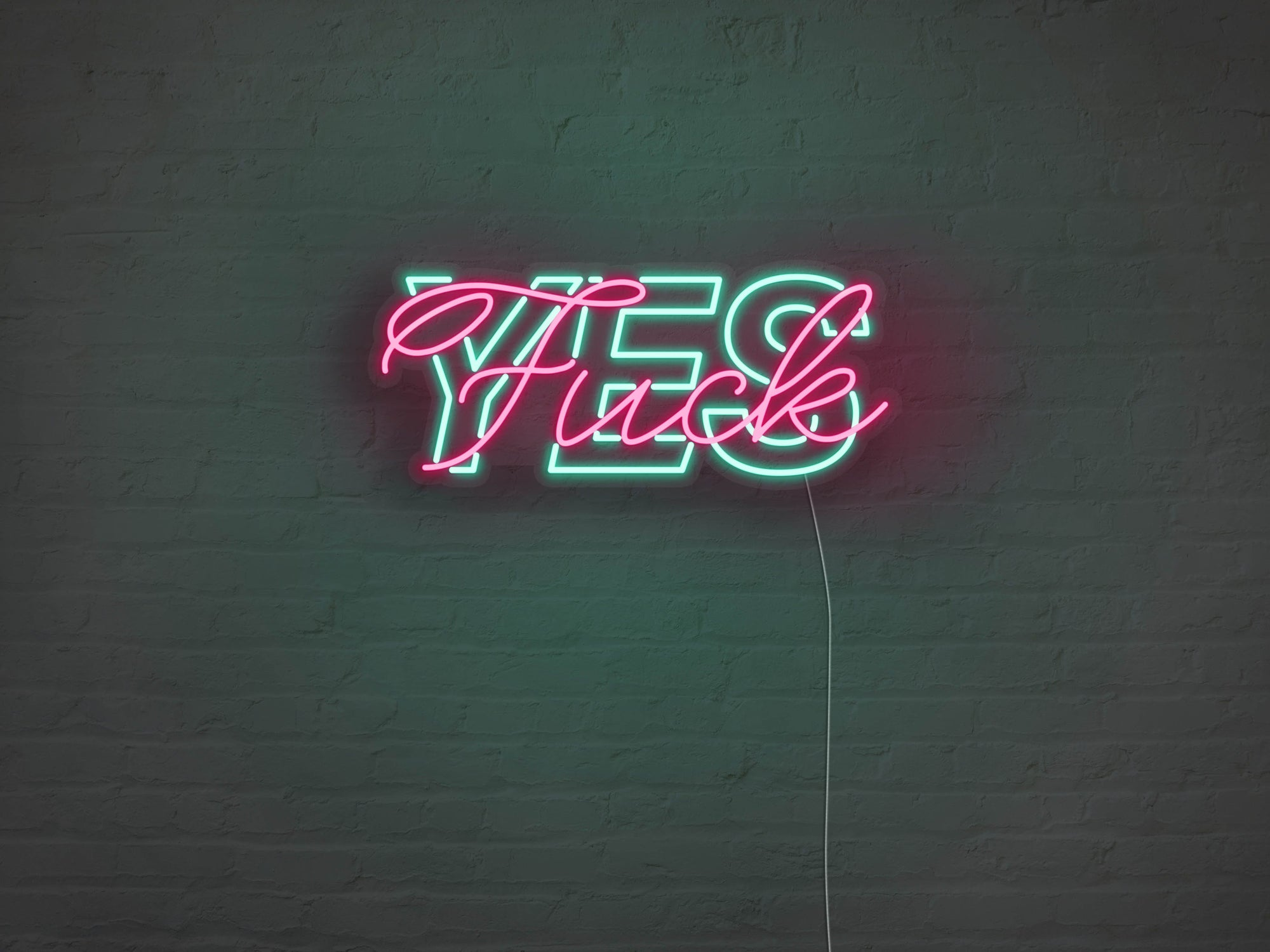 Fuck Yes LED Neon Sign