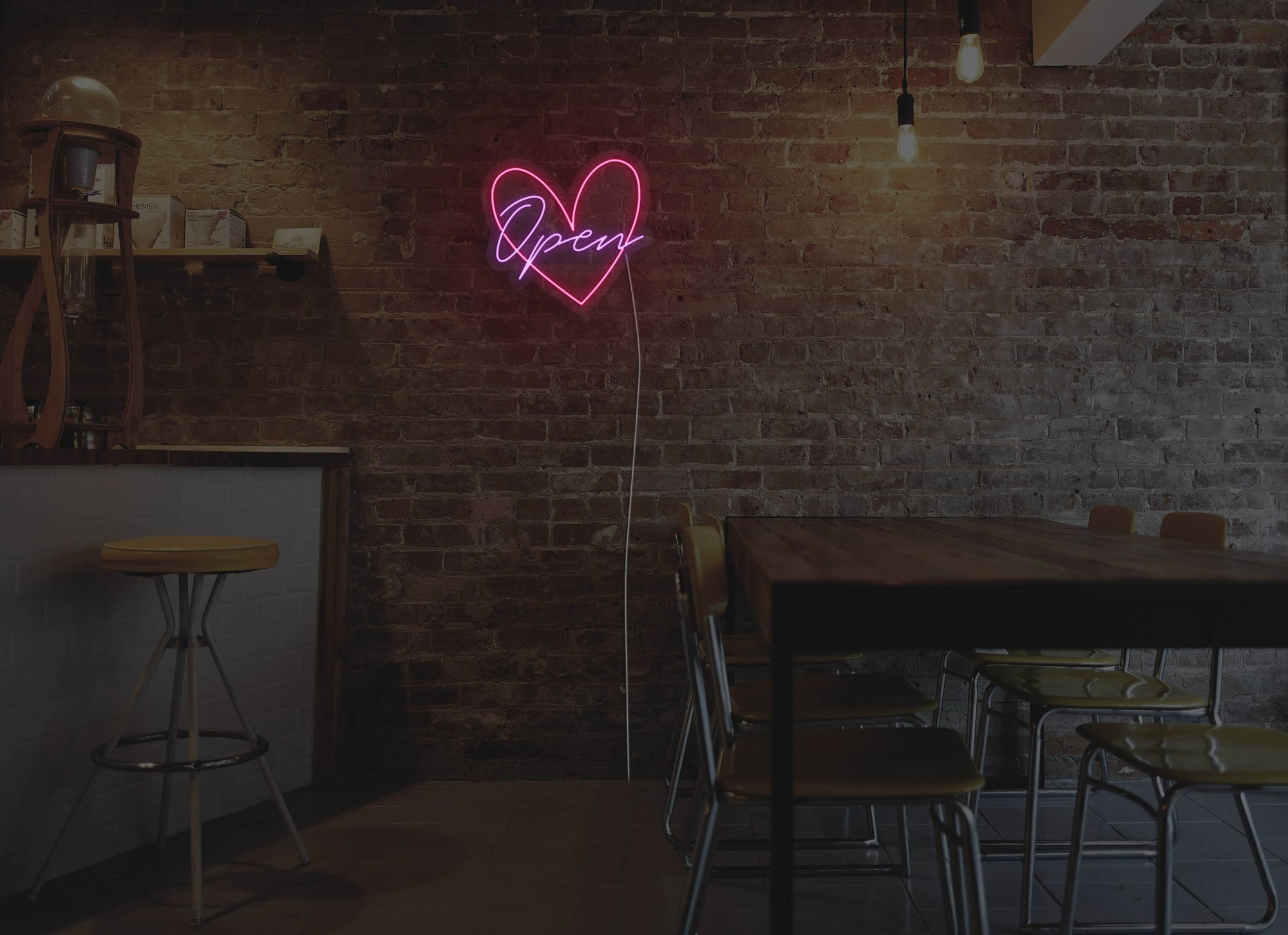 Heart Open LED Neon Sign