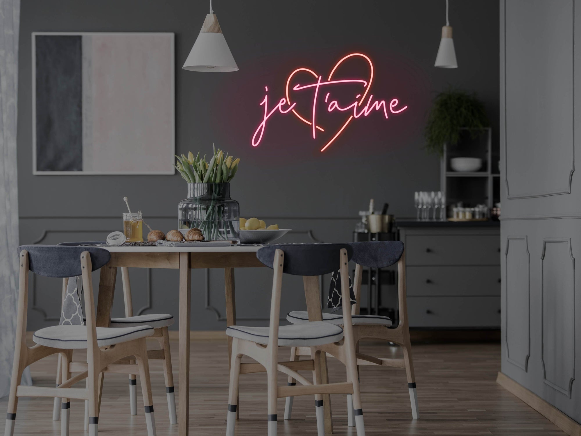 Je T'aime LED Neon Sign