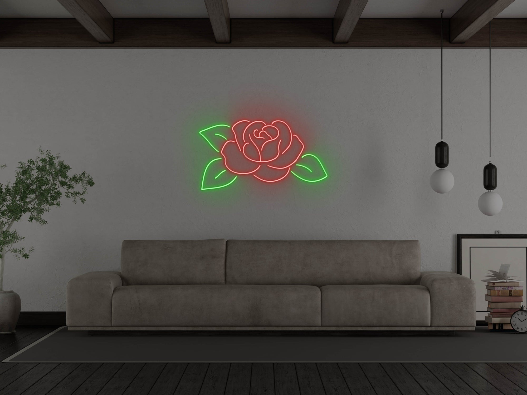 Rose LED Neon Sign