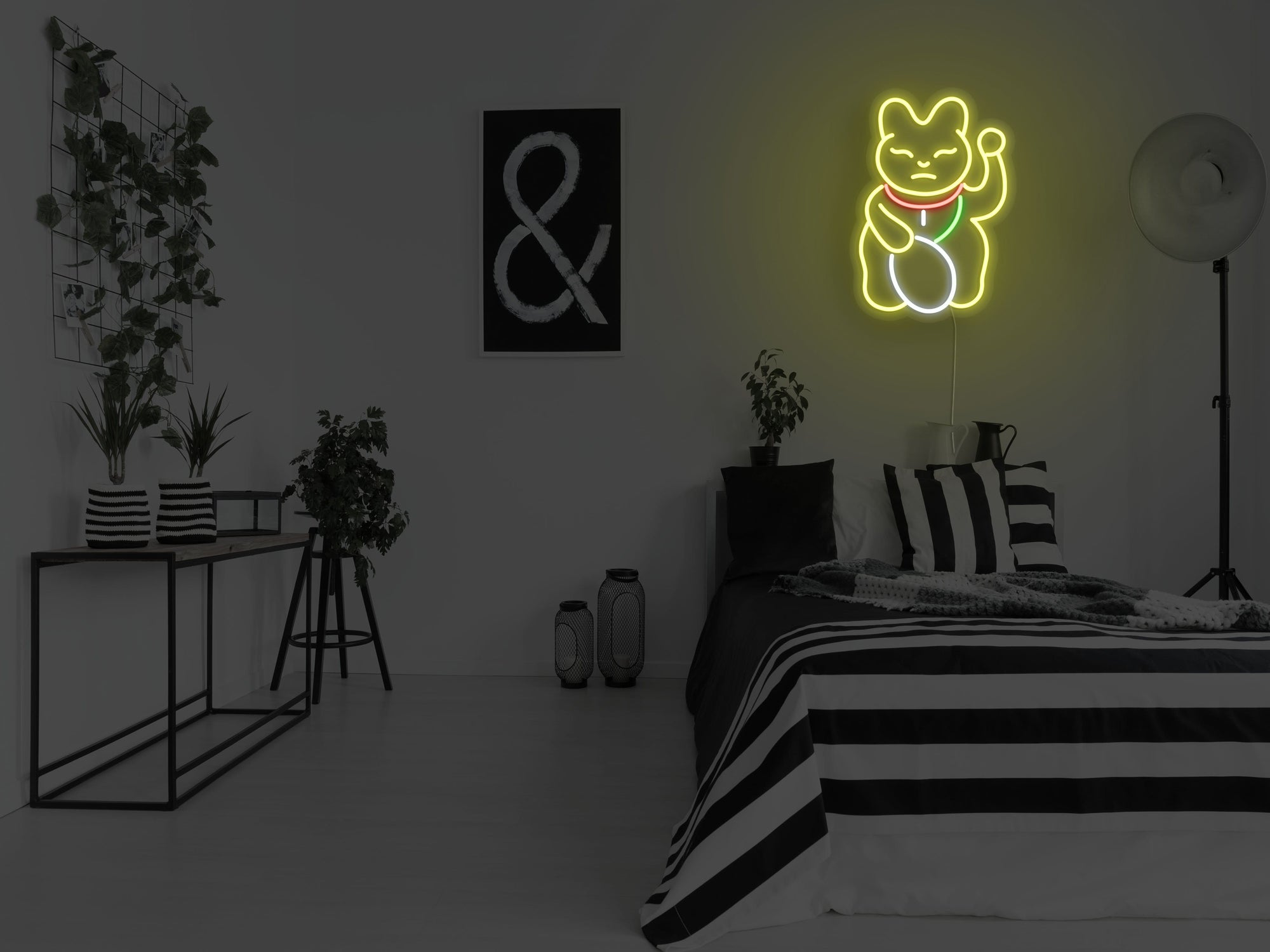 Maneki Neko LED Neon Sign